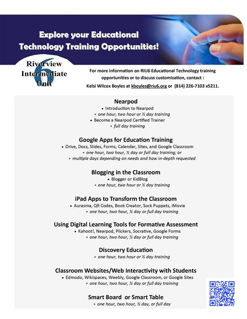 Education Technology services flyer