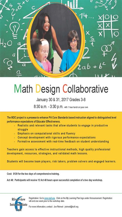 Math Design Collaborative course flyer